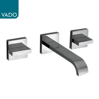 Vado Geo Wall Mounted 3 Hole Basin Mixer