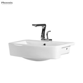 Phoenix Megan Semi Recessed Bathroom Basin