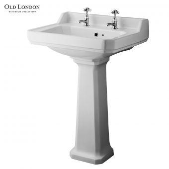 Old London Richmond Basin with Pedestal