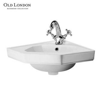 Old London Richmond Corner Bathroom Basin - NCS809