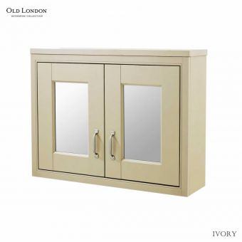 Old London 800mm 2 Door Mirror Cabinet
