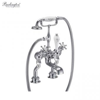 Burlington Birkenhead Regent Deck Mounted Angled Bath/Shower Mixer