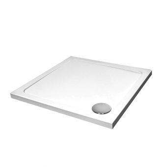 April 45mm Square Stone Resin Shower Tray