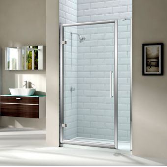 Merlyn Series 8 Hinged Shower Door And Single Inline Panel