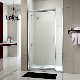Merlyn Series 8 Infold Shower Door And Inline Panel