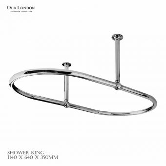 Old London Traditional Shower Rings
