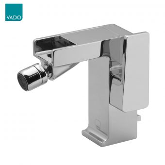 Vado Synergie Bidet Mixer Tap with a Waterfall Spout and Pop Up Waste