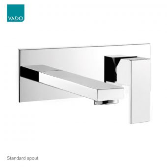 Vado Notion 2 Hole Basin Mixer With Rectangular Backplate