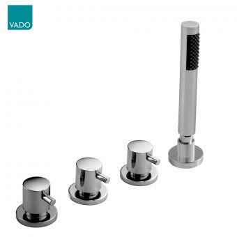 Vado Zoo 4 Hole Bath Shower Mixer Tap Without Spout - ZOO-135/NS-3/4-C/P