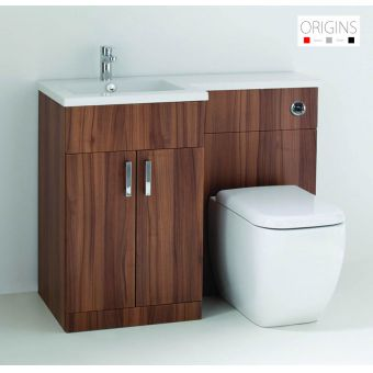Origins Fusion Walnut Vanity Unit
