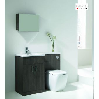Origins Fusion Grey Oak Vanity Unit