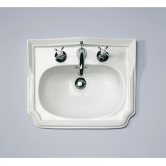 Silverdale Balasani Traditional 520mm White Vanity Basin