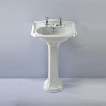 Silverdale Balasani Traditional 600mm White Basin