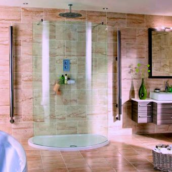 Aqata Spectra Curved Screen Double entry Shower Enclosure SP395