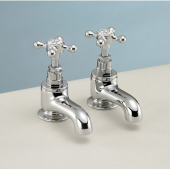 Silverdale Victorian Traditional Bath Pillar Taps