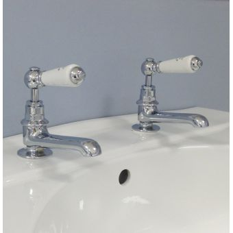 Silverdale Berkeley Traditional Basin Pillar Taps