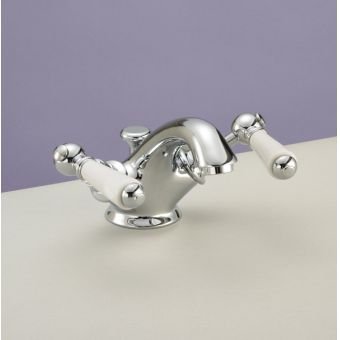 Silverdale Berkeley Traditional Monobloc Basin Mixer With Pop Up Waste