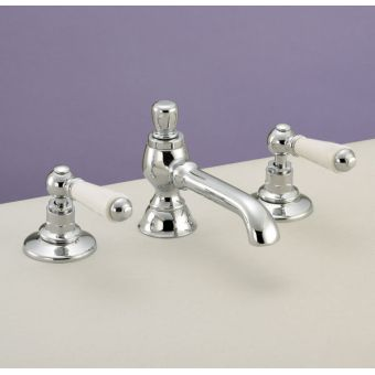 Silverdale Berkeley Traditional 3 Tap hole Basin Mixer
