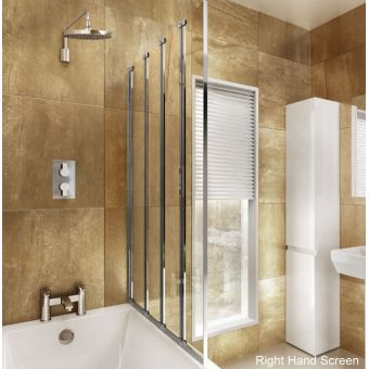 ClearGreen Hinged Bath Screen Four-fold