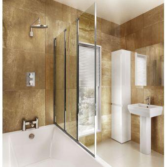 ClearGreen 3 Panel Folding Bath Screen - BS4