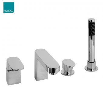 Vado Life 4 Hole Bath Shower Mixer Tap - LIF-132-C/P