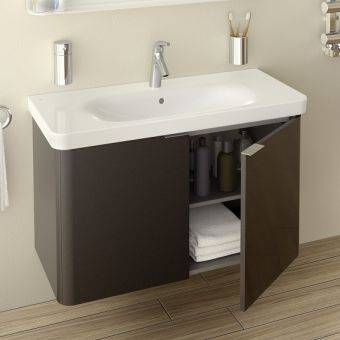 Vitra Nest Wall Hung Unit and Basin, 3 sizes, 4 colours