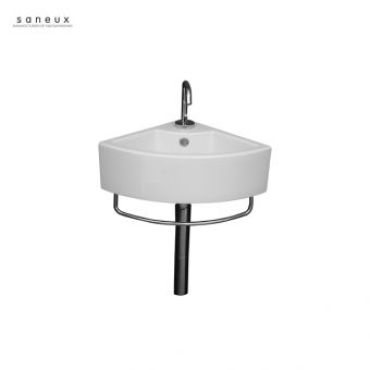 Saneux Quadro 360mm Corner Washbasin