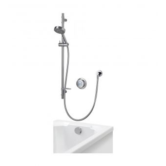 Aqualisa Rise Concealed Shower Valve and Diverter with Adjustable Head and Overflow Bath Filler
