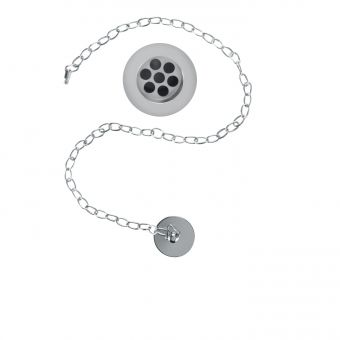 Burlington Slotted Basin Waste Plug & Chain W1
