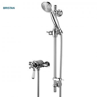 Bristan Regency2 Thermostatic Surface Mounted Shower Valve with Shower Kit