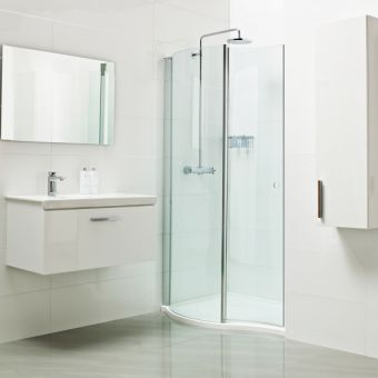 Roman Lumin8 Wave Walk in Shower Enclosure