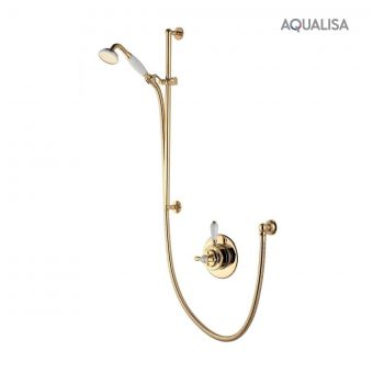 Aqualisa Aquatique Thermo Shower Mixer with Slide Rail Kit