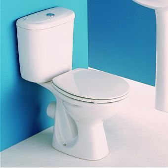 Roca Polo Close Coupled Toilet including seat