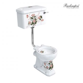 Burlington English Garden Low Level Traditional Toilet