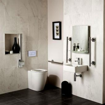 Ideal Standard Concept Freedom Ensuite Bathroom Package with Raised Height Back-to-wall Pan