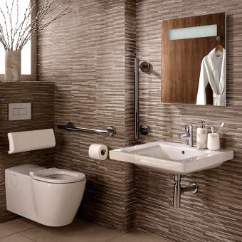 Ideal Standard Concept Freedom Ensuite Bathroom Package with Extended Wall Hung Pan
