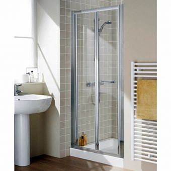 Lakes Classic Semi Frameless Bi-Fold Shower Door