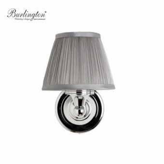 Burlington Chiffon Silver Pleated Bathroom Light