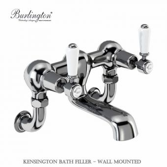 Burlington Kensington Wall Mounted Bath Filler Taps