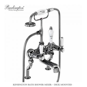 Burlington Kensington Deck Mounted Bath Shower Mixer