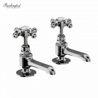 Burlington Stafford Bathroom Basin Pillar Taps