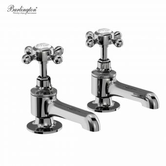 Burlington Stafford Bath Pillar Taps