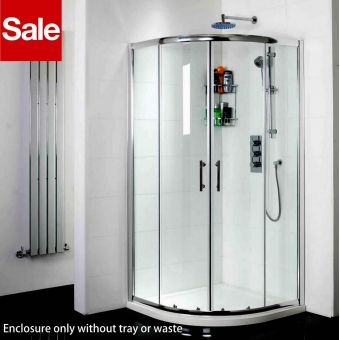 Phoenix Twin Door 800 x 800mm Quadrant Shower Enclosure