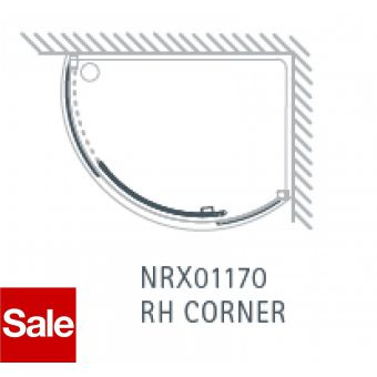 Matki New Radiance Curved Right Handed Offset Corner Shower Tray