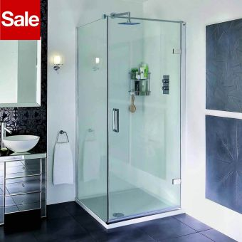 Aqata Spectra Hinged Shower Enclosure 900x900mm Right Hand Corner