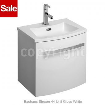 Bauhaus Stream 44 Vanity Unit & Basin - White