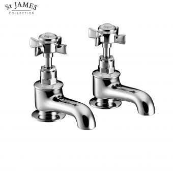 St James Traditional Bath Pillar Taps