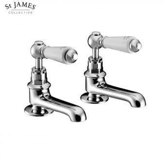 St James Traditional Long Reach Basin Taps