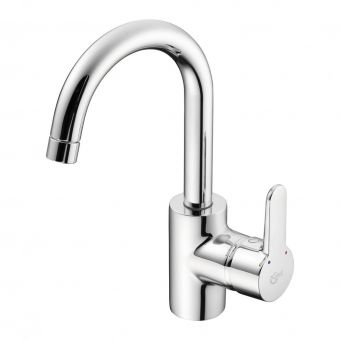 Ideal Standard Concept Blue Basin Mixer Side Lever Without Waste