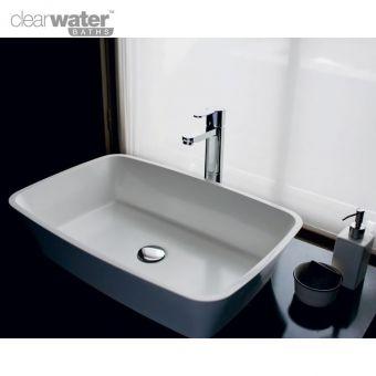 Clearwater Palermo Natural Stone Countertop Basin. Countertop Basins   UK Bathrooms